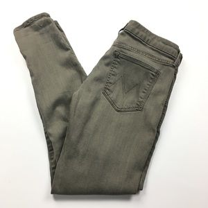MOTHER The Looker POP! Olive Skinny Jeans Sz 31